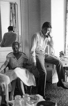 Romy Schneider and Alain Delon, wearing a pair of Gucci Horsebit Loafers - Cannes, 1959
