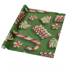 Christmas Candy Glossy wrapping paper #giftwrap #wrappingpaper #christmas