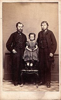 Unknown Men and Child, Albumen Carte de Visite, circa 1867