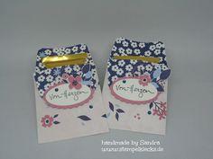 Kleine Auszeit - Papierblüten - Stempeln, Stanzen und Basteln mit Stampin' Up! - Goodies, Drinks, Up, Handmade, Book Folding, Tutorials, Presents, Do Crafts, Stamping Up