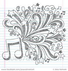 Music Note Sketchy Back to School Doodles Vector Illustration by Jess Volinski | Flickr - Photo Sharing!