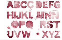 Watercolor Wine Font... Might be cool on a sign or something.