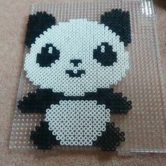 Panda hama beads by beadthere_donethat