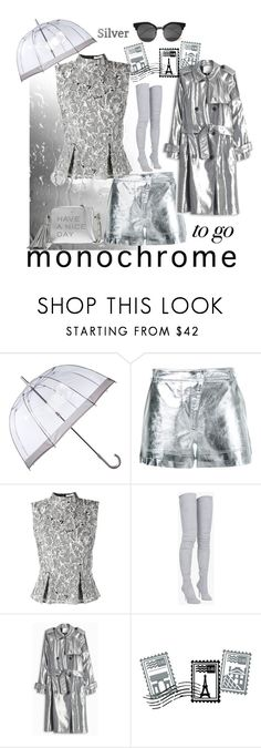 """""""#monochrome"""" by hbee-1234 ❤ liked on Polyvore featuring Fulton, Manning Cartell, Erdem, Balmain, 3.1 Phillip Lim, Dot & Bo, Anya Hindmarch and monochrome"""