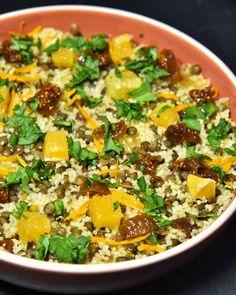 🌿 Taboulé Berbère 🌿 : #food #foodblogger #foodie #foodpic Vegan Dinner Recipes, Vegan Dinners, Couscous, Ratatouille, Meal Planning, Bowls, Chili, Soup, Cilantro