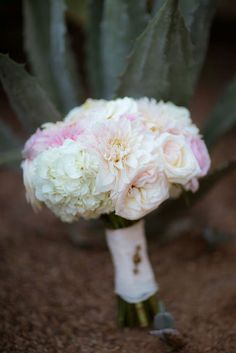 Pink and white bridal bouquet | The Youngrens | Theknot.com