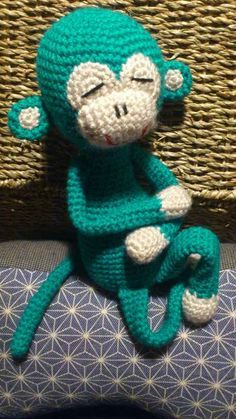 Amisaru Pattern crochet monkey amigurumi by LittleCrochetCo, $0.99