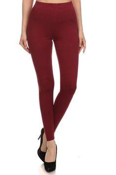 Merlot Burgundy Leggings, Curvy, Plus Size, Fitness, Pants, Fashion, Trouser Pants, Moda, Fashion Styles