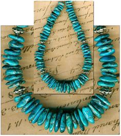 Mexican NACOZARI TURQUOISE Beads Blue Natural Color Genuine 7-14mm