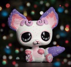 Littlest Pet Shop Space Galactic bear OOAK custom figure LPS chibi galaxy stars #Hasbro