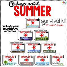 10 Days Until Summer Survival Kit Countdown You sigh as you glance at your 'Days 'til Summer' countdown chain and think it still looks far too long. Guided reading and text books …