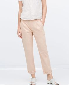 ZARA - COLLECTION AW15 - STRAIGHT TROUSERS WITH BELT