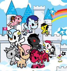 Tokidoki unicorns with castle