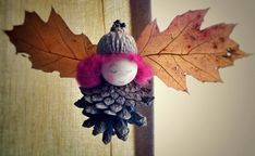Autumn Crafts, Fall Crafts For Kids, Nature Crafts, Diy For Kids, Fun Ideas, Christmas Ornaments, Holiday Decor, Kids House, Angel