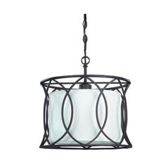 $109.  Homehardware, Oil rubbed bronze with a fabric shade 13 1/4 H X 13 1/2 W  Would love for outside of french doors to master bedroom