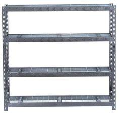 Gladiator 4-Shelf 72 in. H x 77 in. W x 24 in. D Welded Steel Garage Shelving Unit-GARS774SZG - The Home Depot