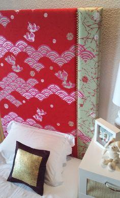 "Image of Cabecero/Panel ""Maiko"" Headboard Panel, Blanket, Interior Design, Projects, Handmade, House, Image, Headboards, Cherry Tree"