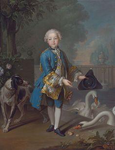1750s Louis Tocqué - Portrait of Louis Philippe Joseph, Duc d'Orleans and Duc de Chartres