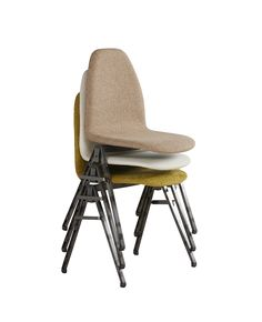 Design your own stackable chair. Choose any upholstery you like for your project. Stackable and connectable chair upholstered.