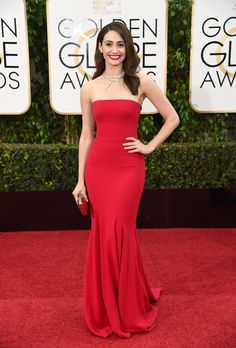 Emmy Rossum in Armani at the 2016 Golden Globes