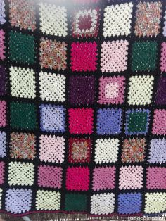 Decoración vintage, lana ganchillo, Manta sofá a crochet Quilts, Blanket, Handmade, Handmade Crafts, Vintage Decor, Bed Covers, Crocheting, Hand Made, Quilt Sets