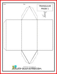 Triangular Prism net, a printable net for a triangular prism