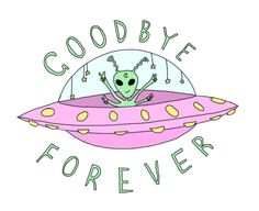 goodbye drawing art cute forever hipster Typography design green ...