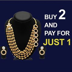 Dazzling Gold Plated Necklace Sets!! Price- USD 25 | Product id- 761232 Buy 2 and Pay For just 1 Worldwide Delivery | 7 day return policy  DM or whatsapp on 91 8291100288 Visit m.mirraw.com/insta Follow us on @mirraw  Share Comment Like & Tag your Friends #necklace #necklaceset #earrings #templejewellery #dazzling #shine #diamonds #jewellery #accessories #necklaces #ethnic #fasionjewllery #diamondjewellery #jewelry #lookoftheday #necklaceoftheday #instagood #shopaholic #indianweddings…