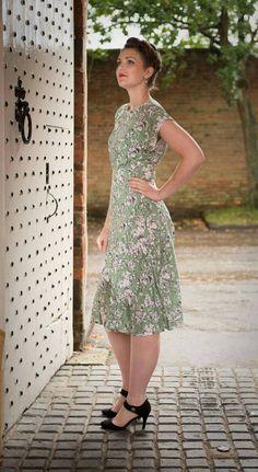 Vestido de la década de 1940 vintage hecho a por EngCountryVintage