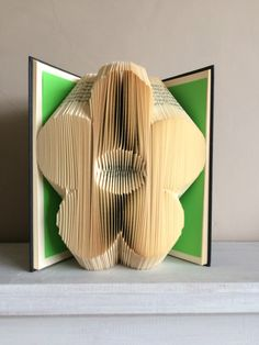 Book Folding Pattern, Book Art, Book Origami -Flower, by ThePageTurnerCompany on Etsy