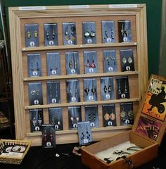 Picture Frame Earring Display by Melanie Heard