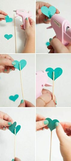 how to make these adorable wedding aisle hearts! Awesome DIY idea for making heart picks for wedding aisle decor!Awesome DIY idea for making heart picks for wedding aisle decor! Wedding Aisle Decorations, Heart Decorations, Wedding Centerpieces, Decor Wedding, Wedding Tags, Our Wedding, Dream Wedding, Wedding Ceremony, Wedding Ideas