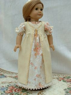 1800s Regency Gown with Pelisse Emma Woodhouse American Girl doll