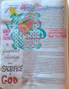 Vintage Grace: Bible Marginalia- Walk in Love