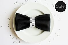 ...because we all need to know how to make a bow tie napkin