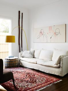 small put together living area. Helen Gory — The Design Files | Australia's most popular design blog.