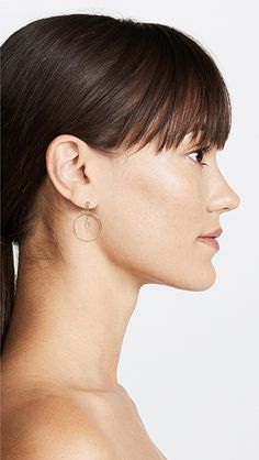 Jacquie Aiche Circle Hoop Earrings | SHOPBOP
