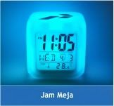 Jam Meja   Merupakan barang promosi yang sekaligus membantu target audience untuk dapat melihat waktu di atas mejanya.