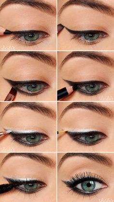 A little minimalist wingtip eyeliner.