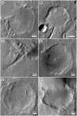 Fig.4. Overview images of the alluvial fan and five fan deltas. A. Sabrina fan (Hauber et al., 2008). Detail of HRSC image h0894_0000; 12....