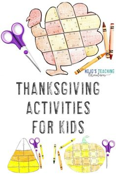 This post is full of great Thanksgiving activities for kids. You'll find pumpkins, candy corns, turkeys, fractions, basic math facts, editable options, book ideas, thank you notes, FREE downloads, and more for your Kindergarten, 1st, 2nd, 3rd, 4th, 5th, 6th, 7th, and 8th grade students. Click now to see all the great options! #ThanksgivingActivities #ThanksgivingActivitiesForKids #NovemberActivitiesForKids #Elementary #MiddleSchool 3rd Grade Classroom, Middle School Classroom, Classroom Fun, Thanksgiving Activities For Kids, Thanksgiving Math, Holiday Activities, Independence Day Activities, Halloween Math, Math Work