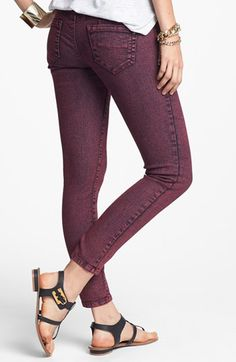 Jolt Overdyed Crop Skinny Jeans (Brick) (Juniors) available at #Nordstrom