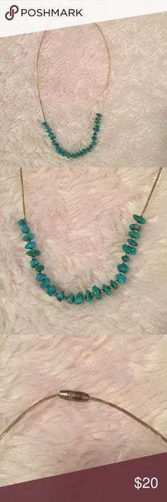 Authentic turquoise beaded necklace. Beautiful necklace with turquoise, purchased in Santa Fe. Jewelry Necklaces
