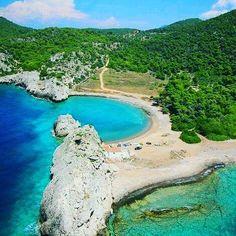 "Milokopi Beach in Corinth Bay near  Athens .    @Wonderful.Greece #WonderfulGreece #Wonderful_Greece   #Greece #Grèce #Grecia #Griechenland #Греция #希腊  #ギリシャ #الإغريق""  #Ελλάδα  #Hellas ¤ .    #Greek_Blue  #GreekBlue"