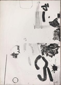 Robert Rauschenberg, White Stone in Black