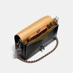 87bc902135f4 Coach Dinky Crossbody 24 In Glovetanned Leather - Black/Black Copper. Coach Tote  BagsCoach ...