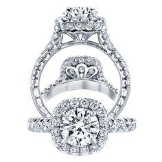 Jack Kelége Platinum Engagement Ring. #JackKelege #EngagementRing #luxury #bridal