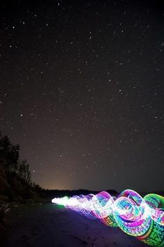 LED beach night hooping