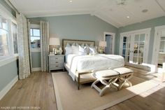 BM WEDGEWOOD GRAY -Master suite--vaulted ceiling like our master will have House of Turquoise: Nagwa Seif Interior Design by dena