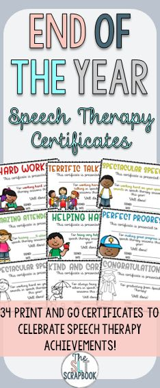 These End of the Year certificates are great for any end of year celebrations in your speech therapy sessions. They are a great way to celebrate your student's individual successes and achievements!
